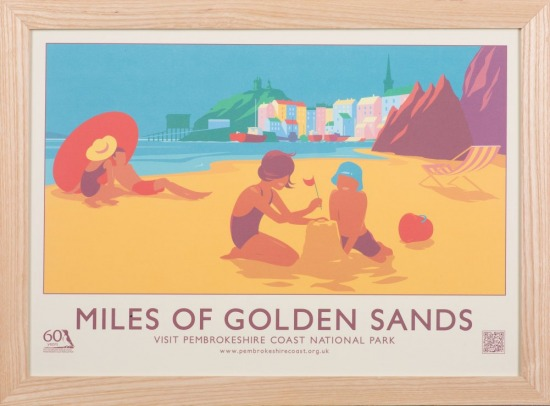 Pembrokeshire national park 60th anniversary posters shop